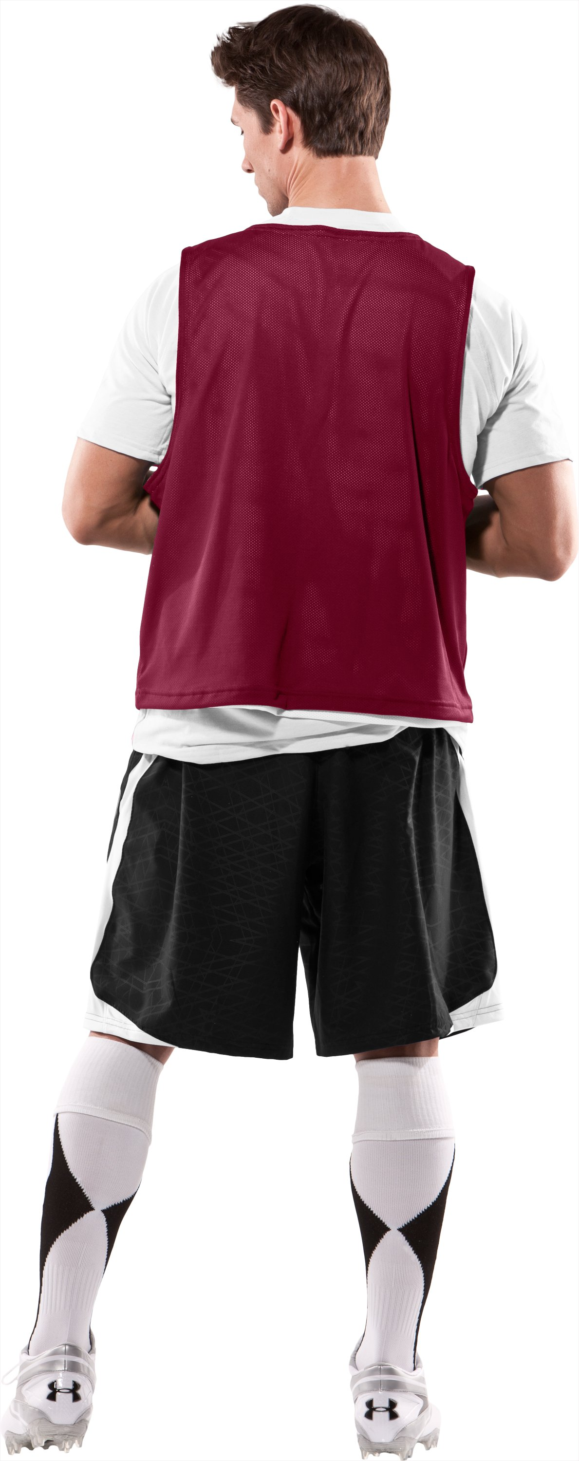 Men's Practice Jersey, Maroon, Back