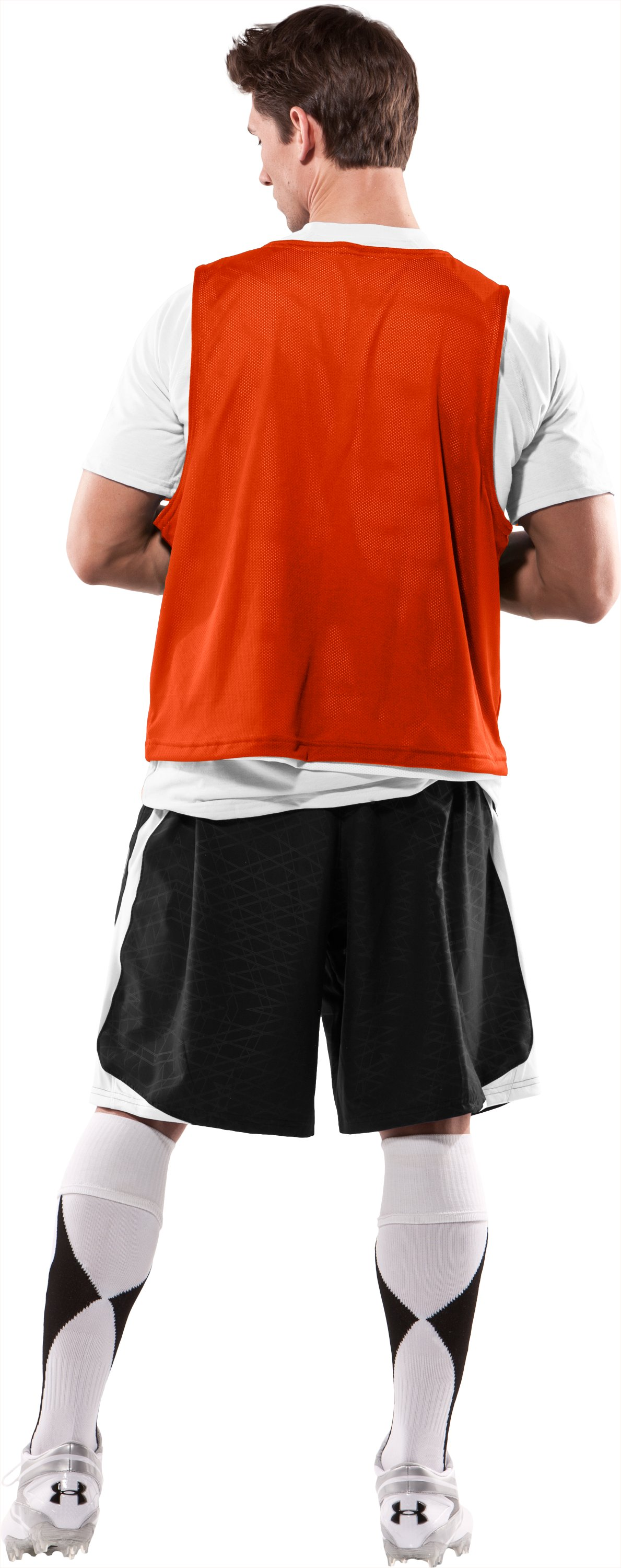 Men's Practice Jersey, Dark Orange, Back