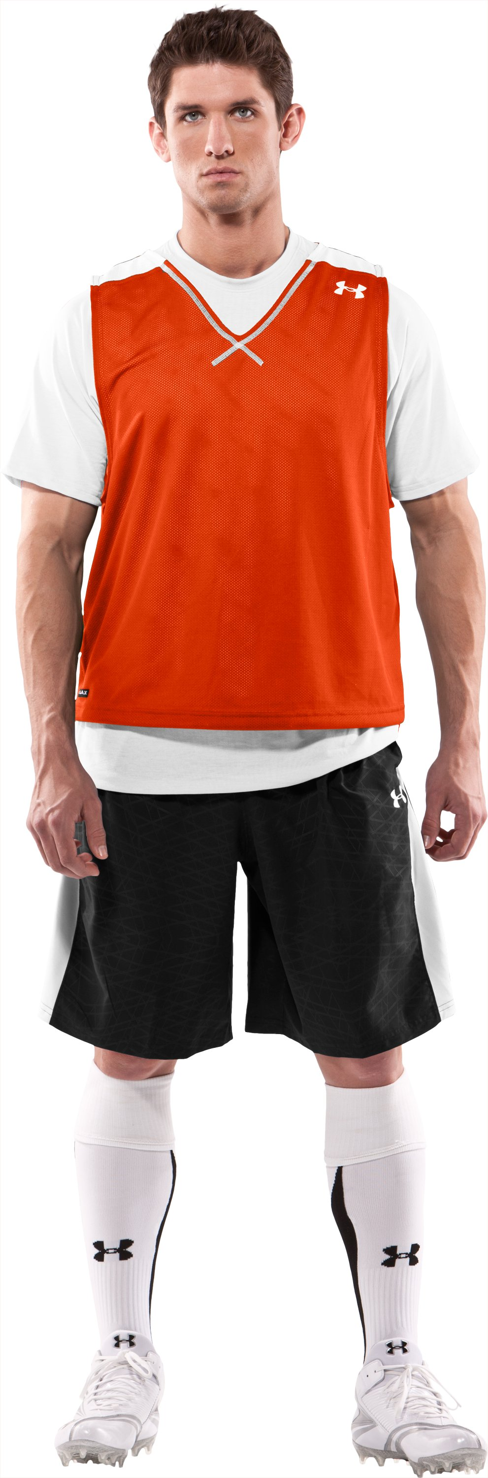 Men's Practice Jersey, Dark Orange, Front