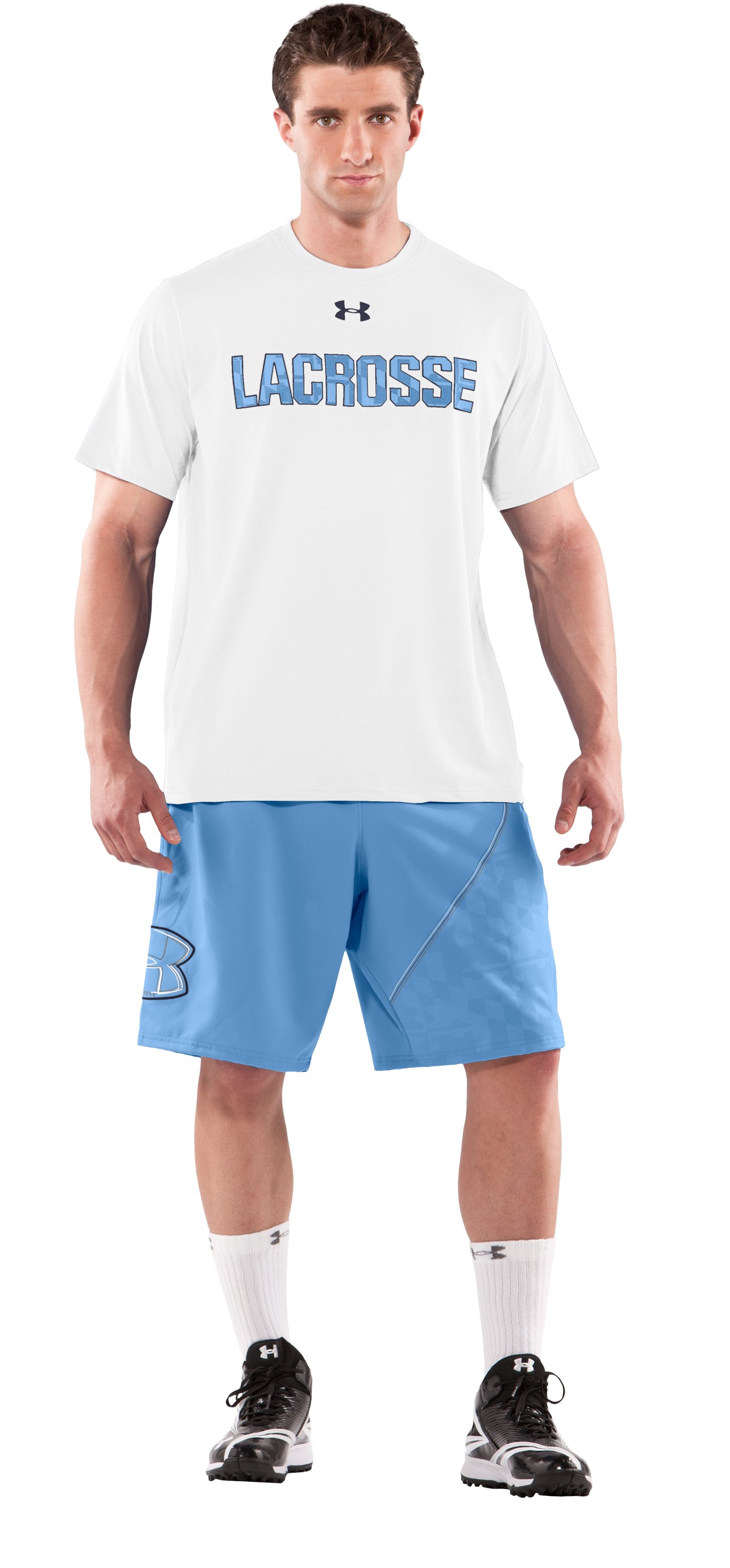 Men's UA Freestyle Shorts, Carolina Blue, Front