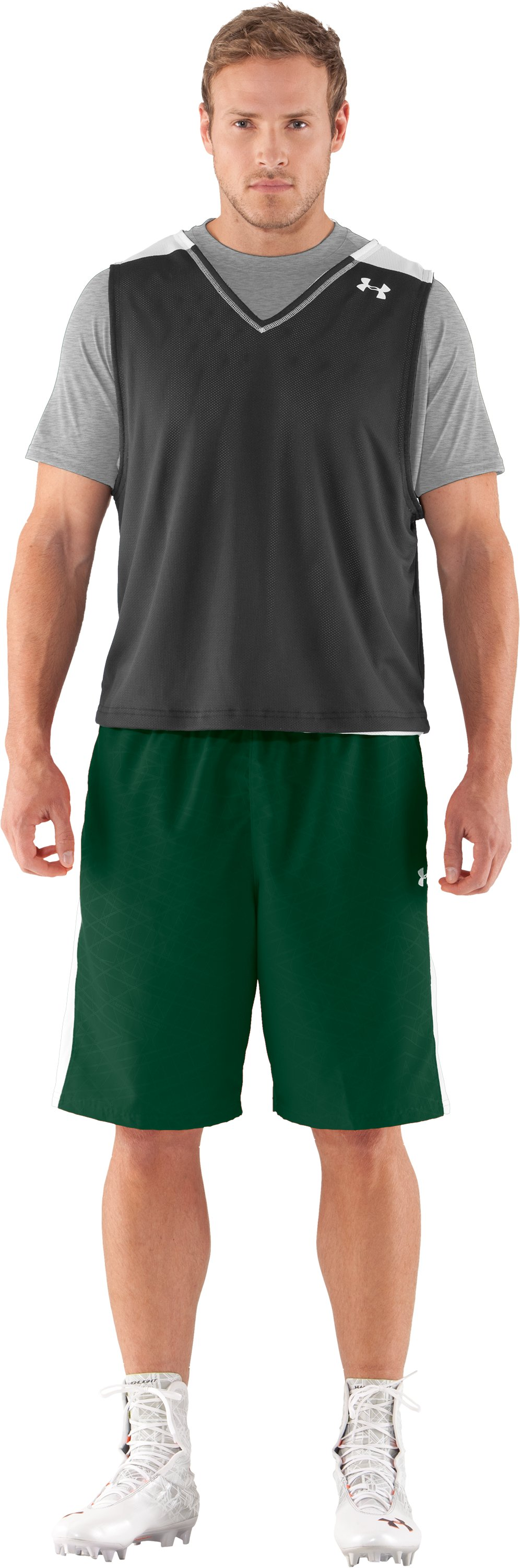 Men's UA Unity Shorts, Forest Green, Front