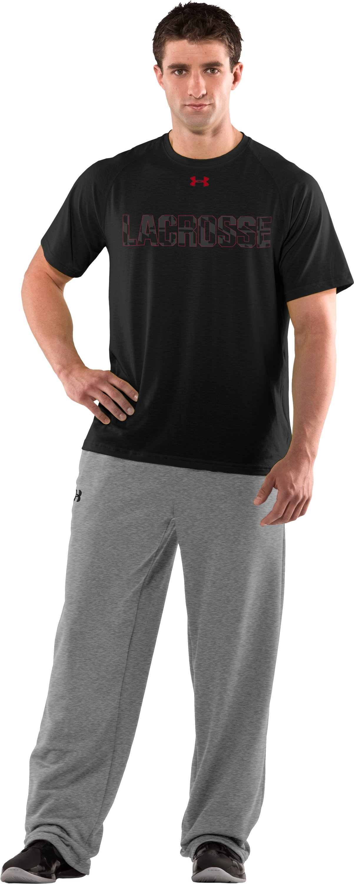 Men's Baltiflage Lacrosse UA Tech™ T-Shirt, Black , zoomed image