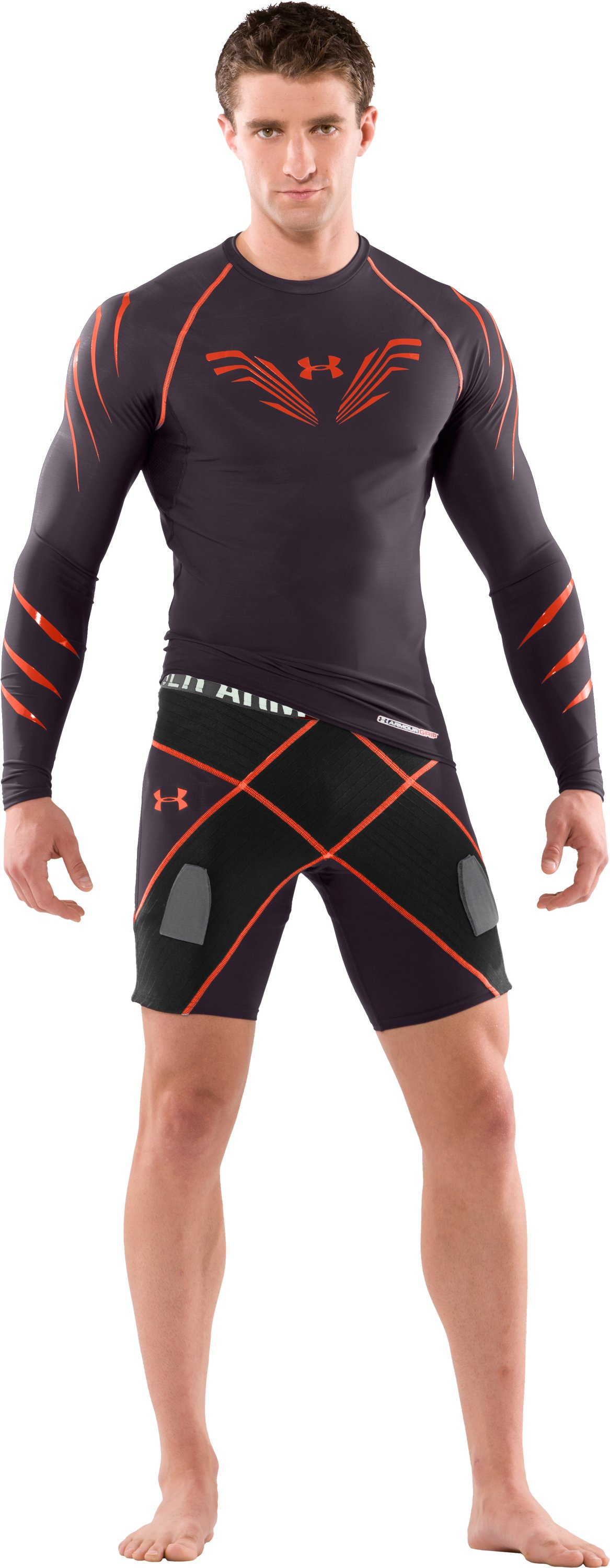 Men's Hockey Pro Coreshorts, Charcoal