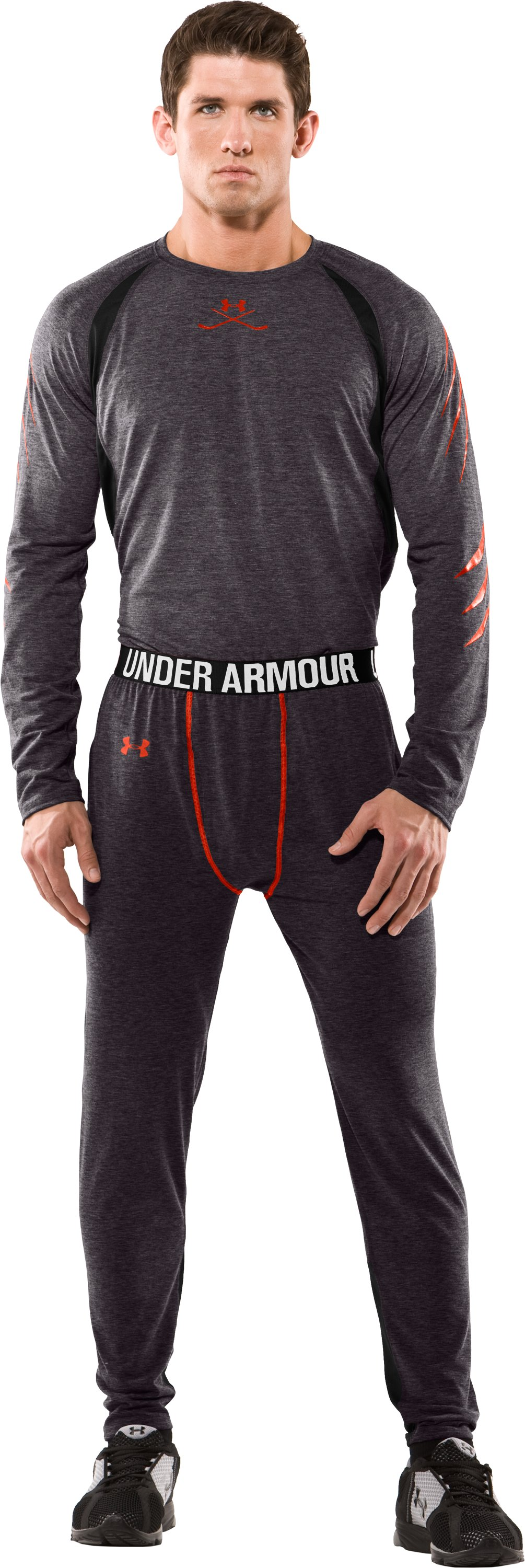Men's Hockey UA Tech™ Pants, Carbon Heather, Front