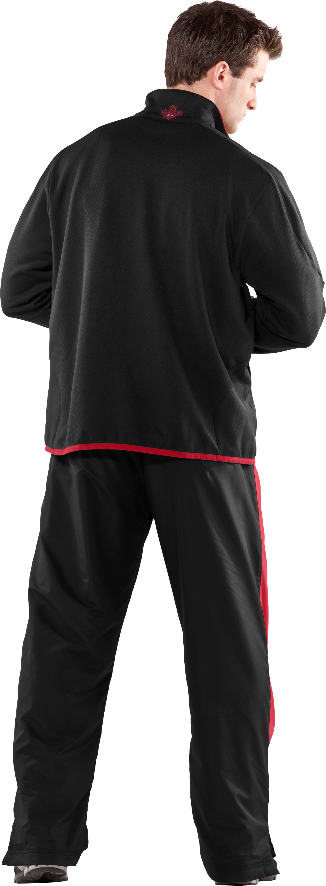 Men's Hockey ¼ Zip Microfleece, Black , Back