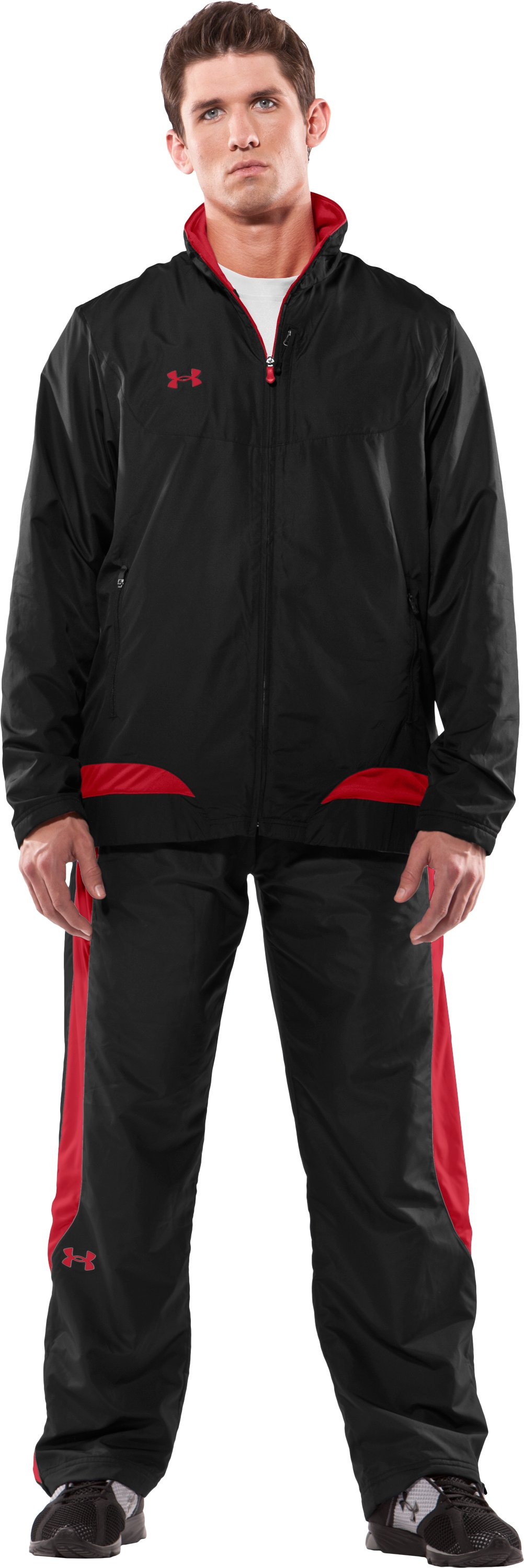 Men's Canuck Hockey Warm-Up Jacket, Black , Front