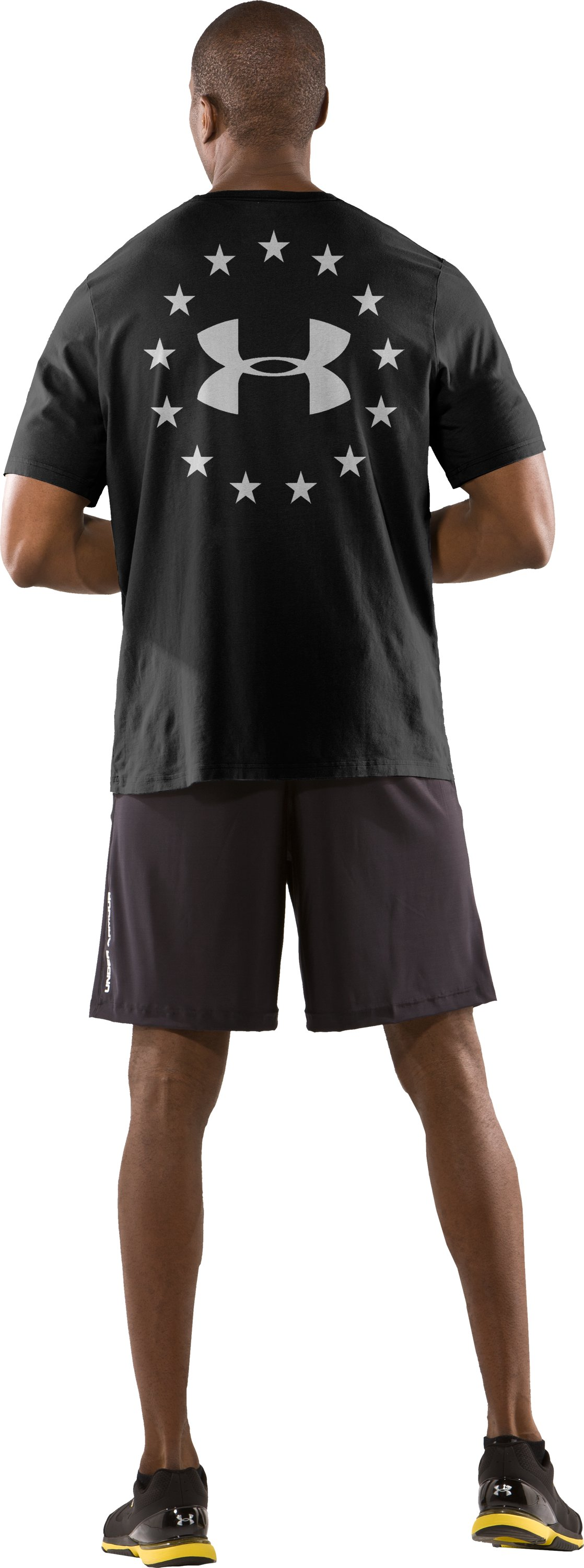 Men's UA Freedom T-Shirt, Black , Back