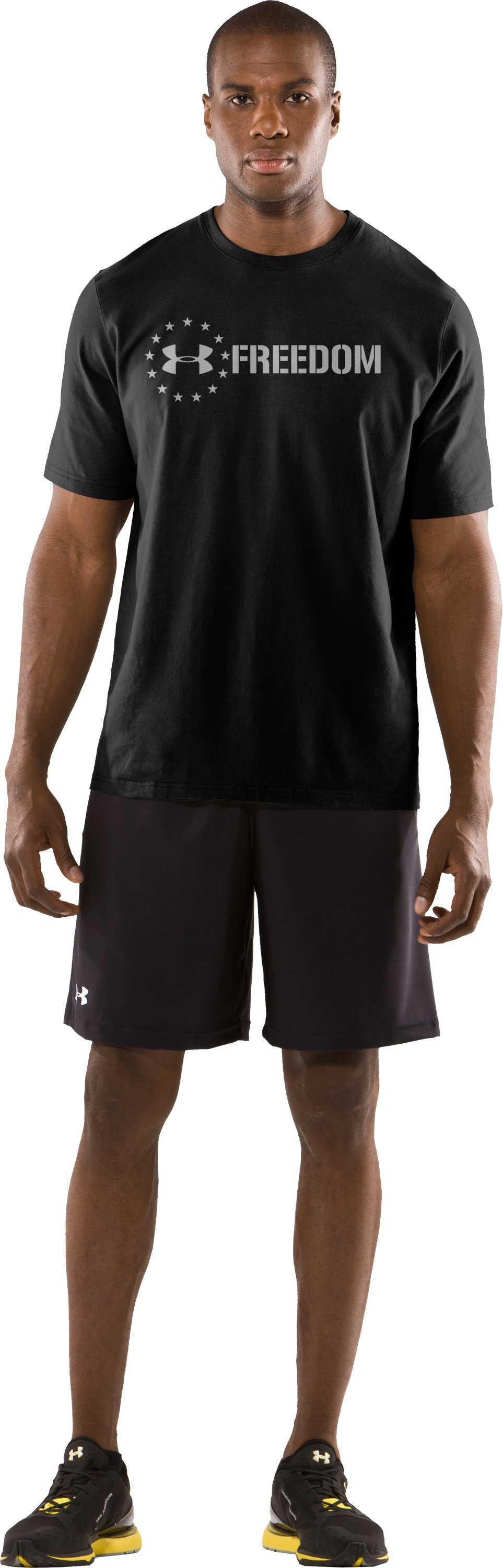 Men's UA Freedom T-Shirt, Black , zoomed image