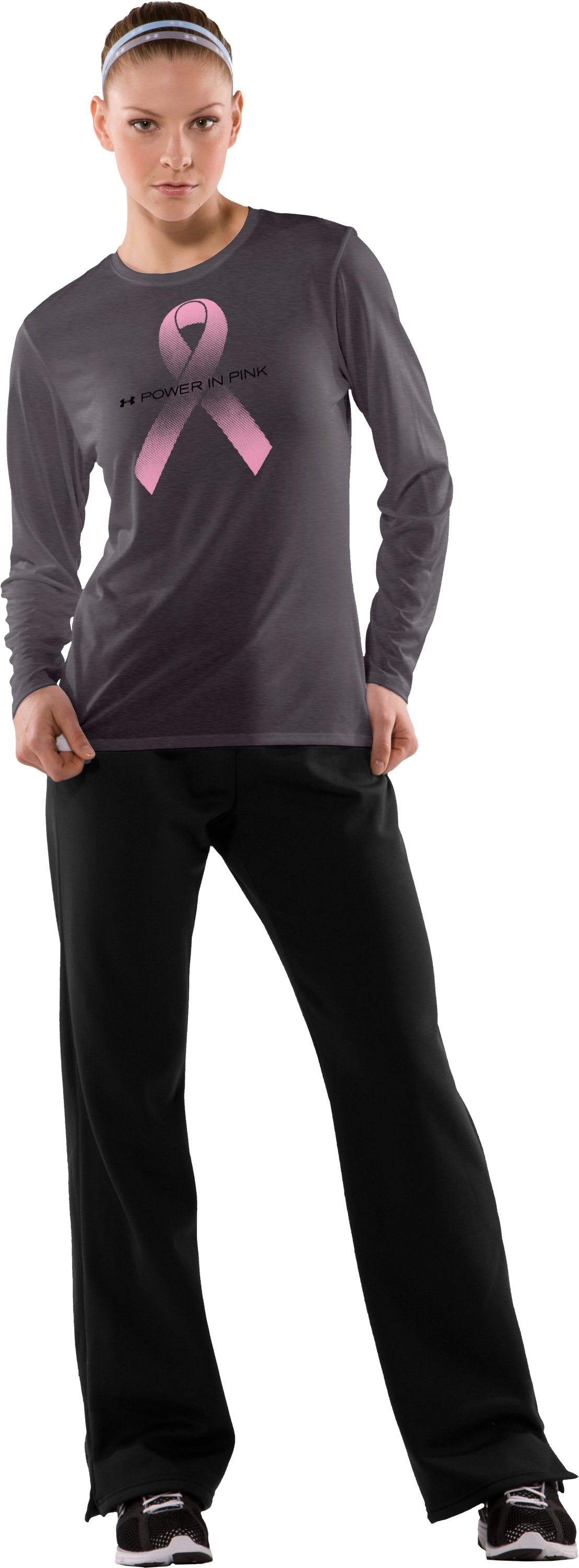 Women's PIP® Long Sleeve Graphic T-Shirt, Carbon Heather