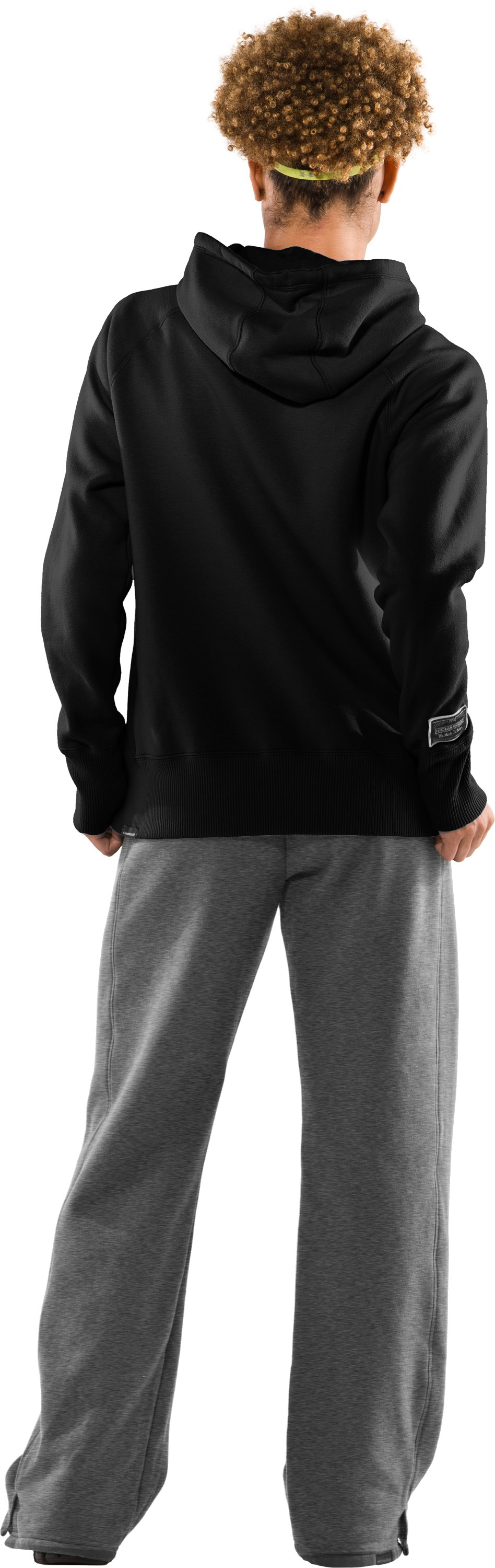 Women's UA Charged Cotton® Storm Fleece Hoodie, Black , Back