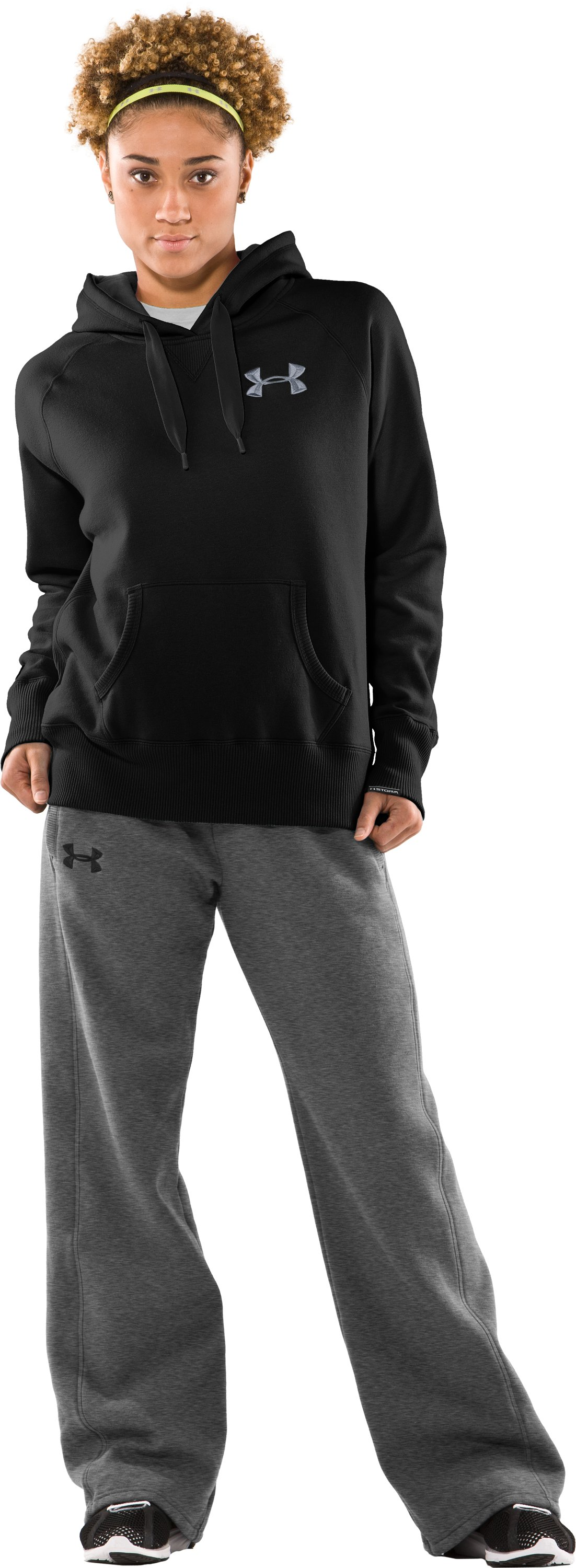 Women's UA Charged Cotton® Storm Fleece Hoodie, Black , zoomed image