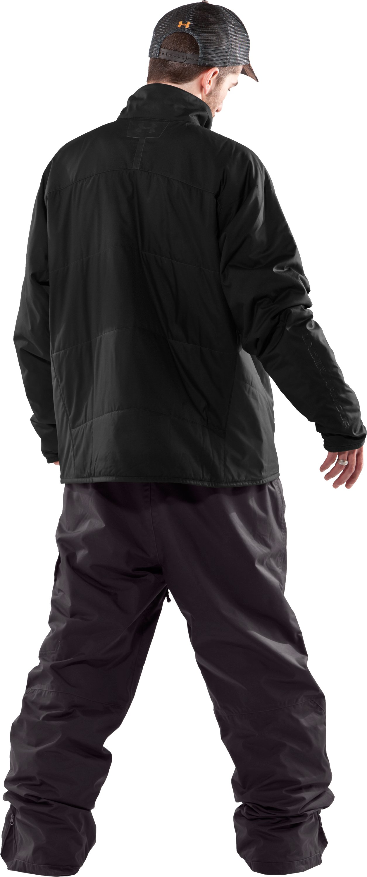 Men's ArmourLoft® Mountain Jacket, Black , Back
