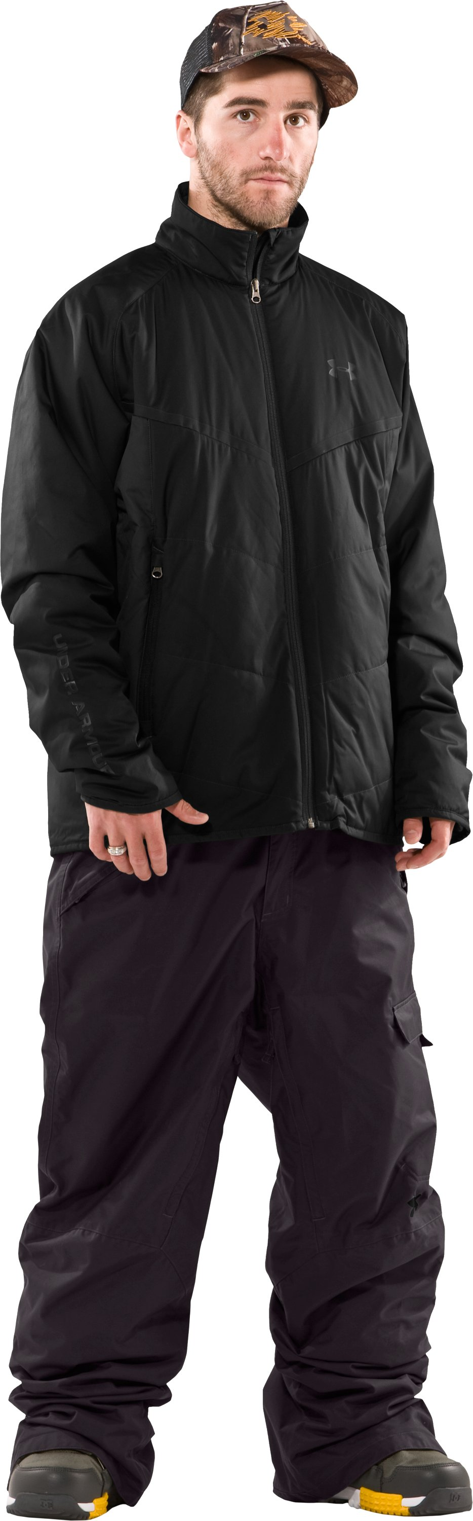 Men's ArmourLoft® Mountain Jacket, Black , Front