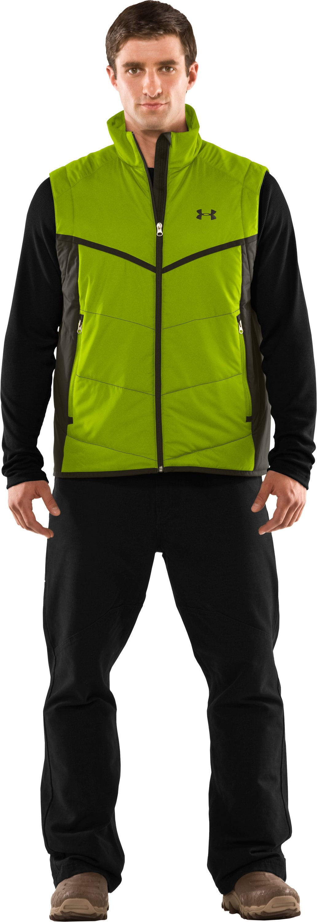 Men's ArmourLoft® Mountain Vest, Velocity, Front