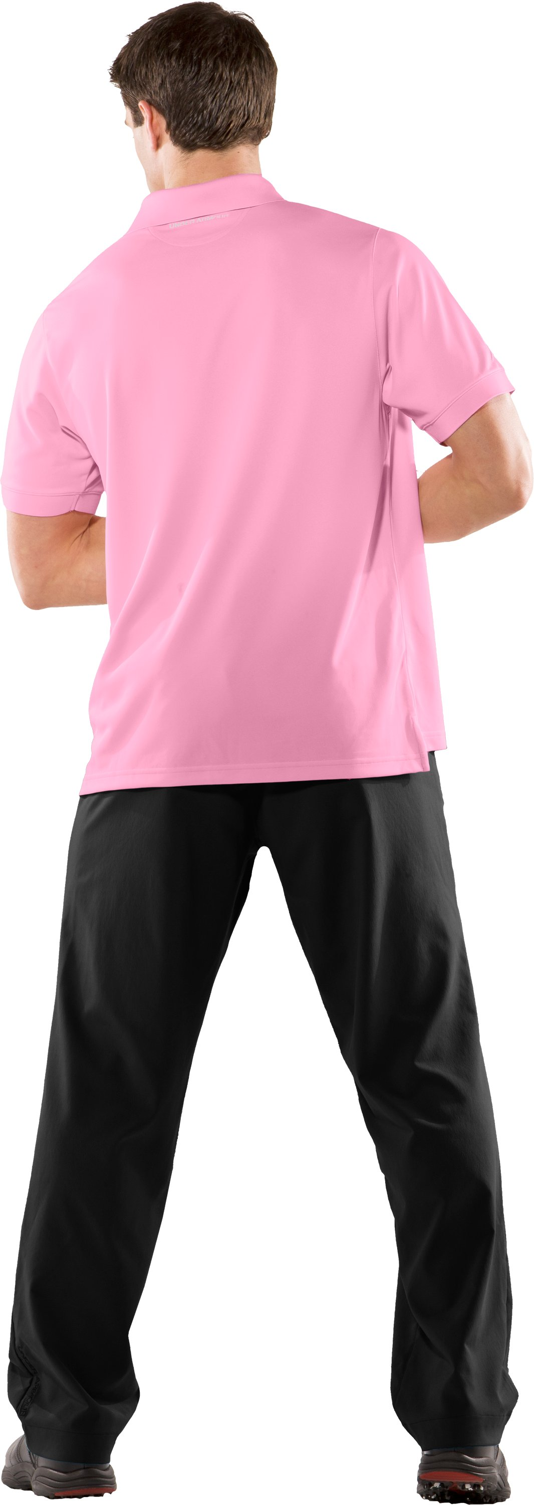 Power In Pink® UA Exploded Logo Polo Shirt, True Pink, Back