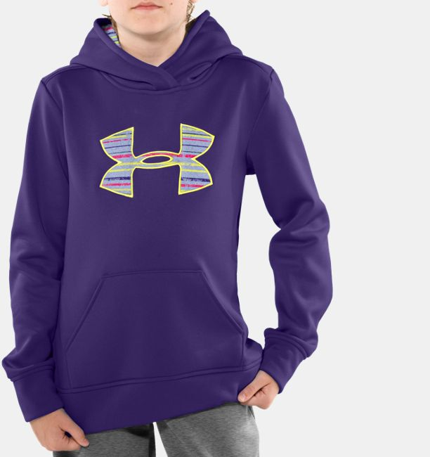Girls' Armour® Fleece Big Logo Pullover Hoodie | Under Armour US