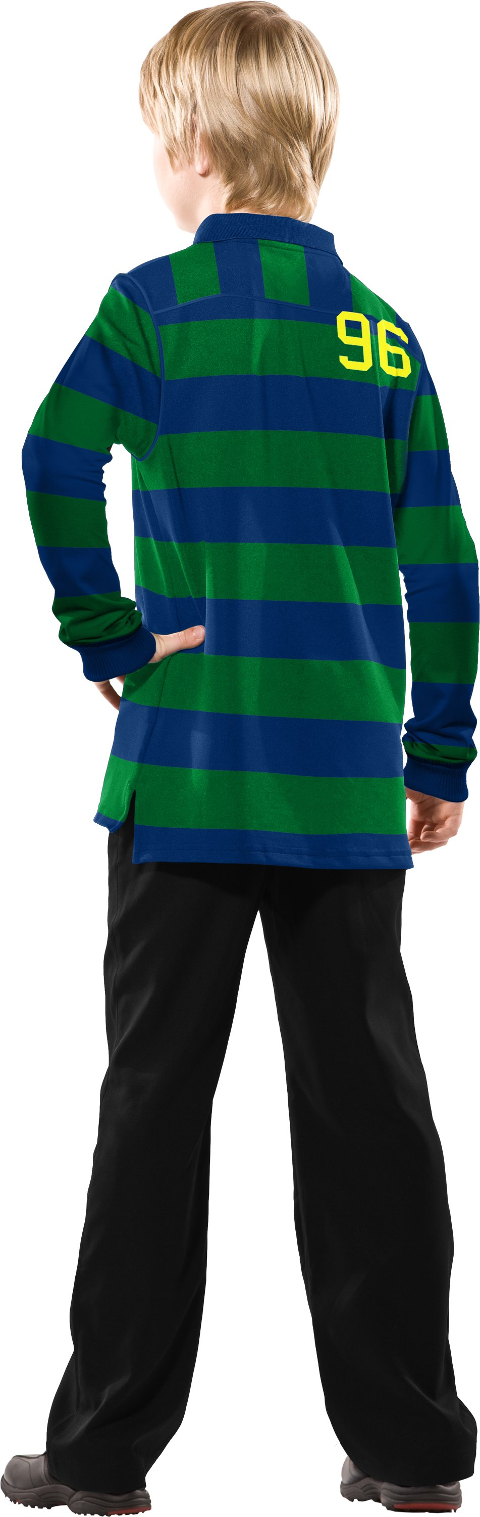 Boys' Long Sleeve 96 Rugby Shirt, Feisty, Back