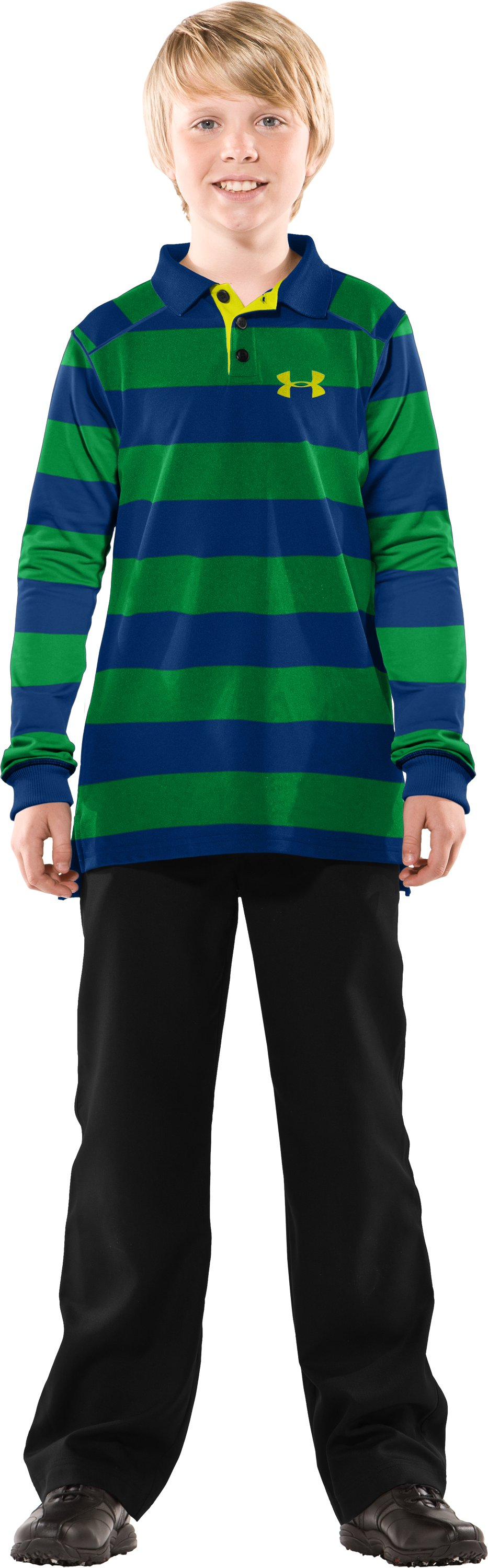Boys' Long Sleeve 96 Rugby Shirt, Feisty, Front