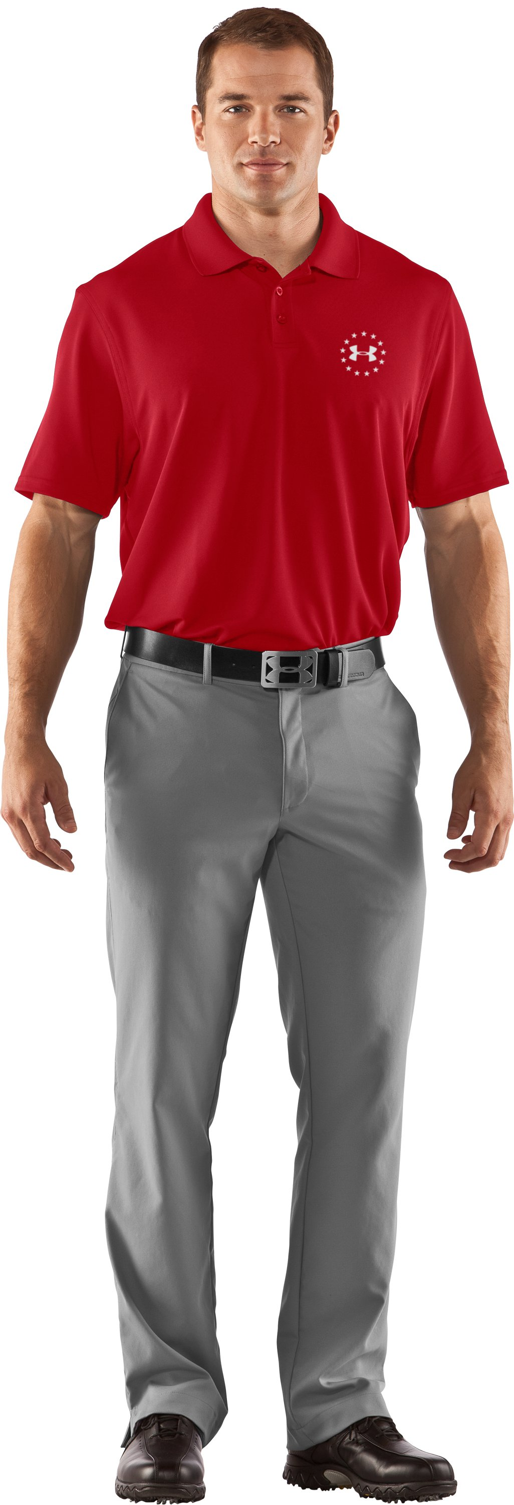 Men's UA Freedom Polo, Red, Front