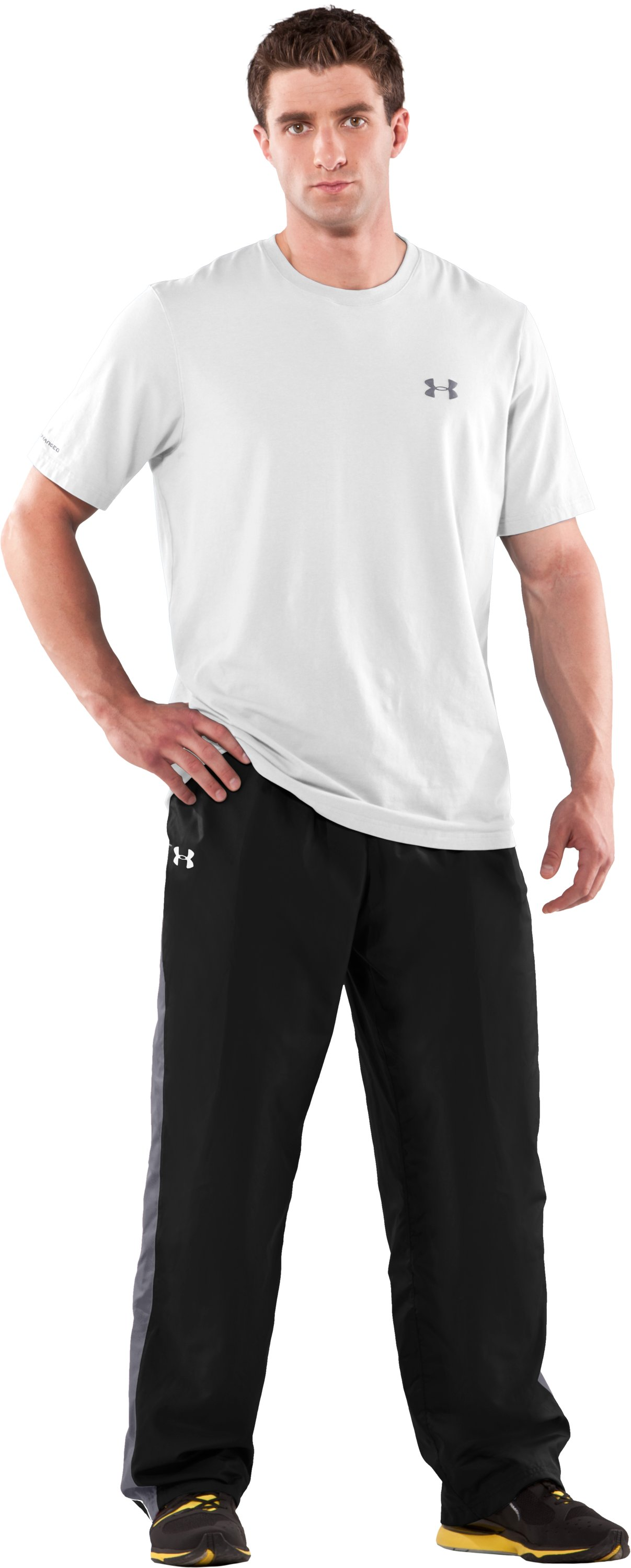Men's UA Attack Woven Warm-Up Pants, Black , zoomed image