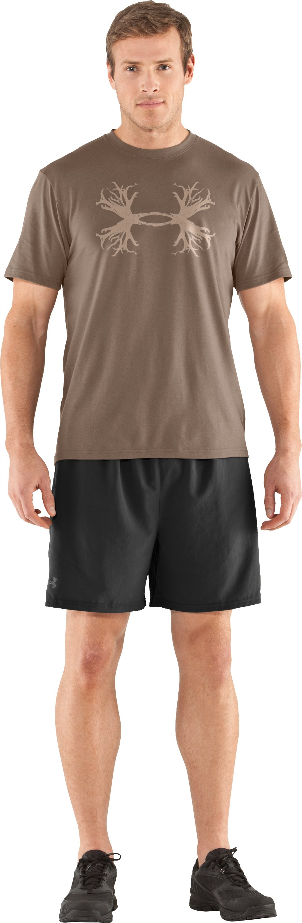 Men's UA Hunt Antler Logo T-Shirt, Uniform, Front