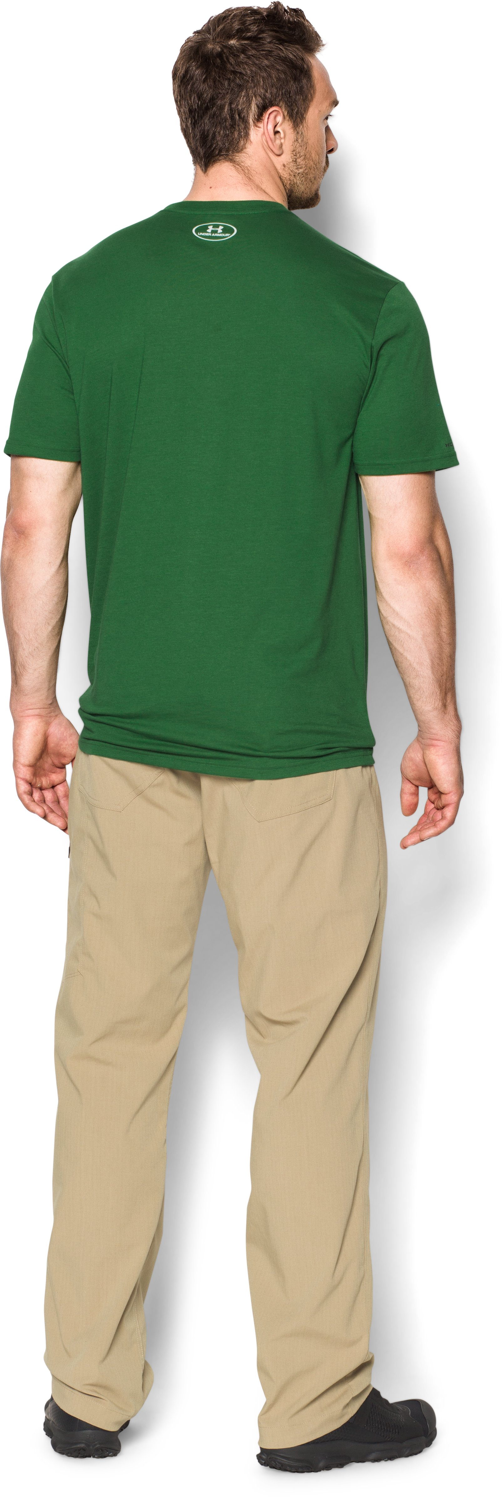 Men's UA Hunt Antler Logo T-Shirt, Flash Green, Back