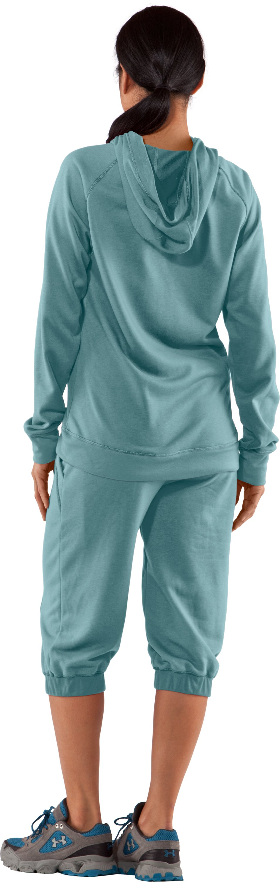 Women's Terry Hoodie, Seaport, Back
