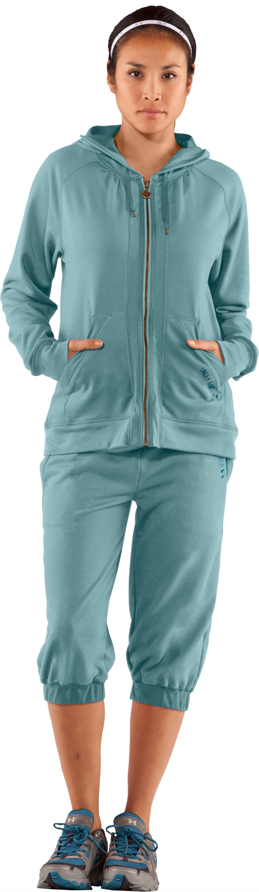 Women's Terry Hoodie, Seaport, Front
