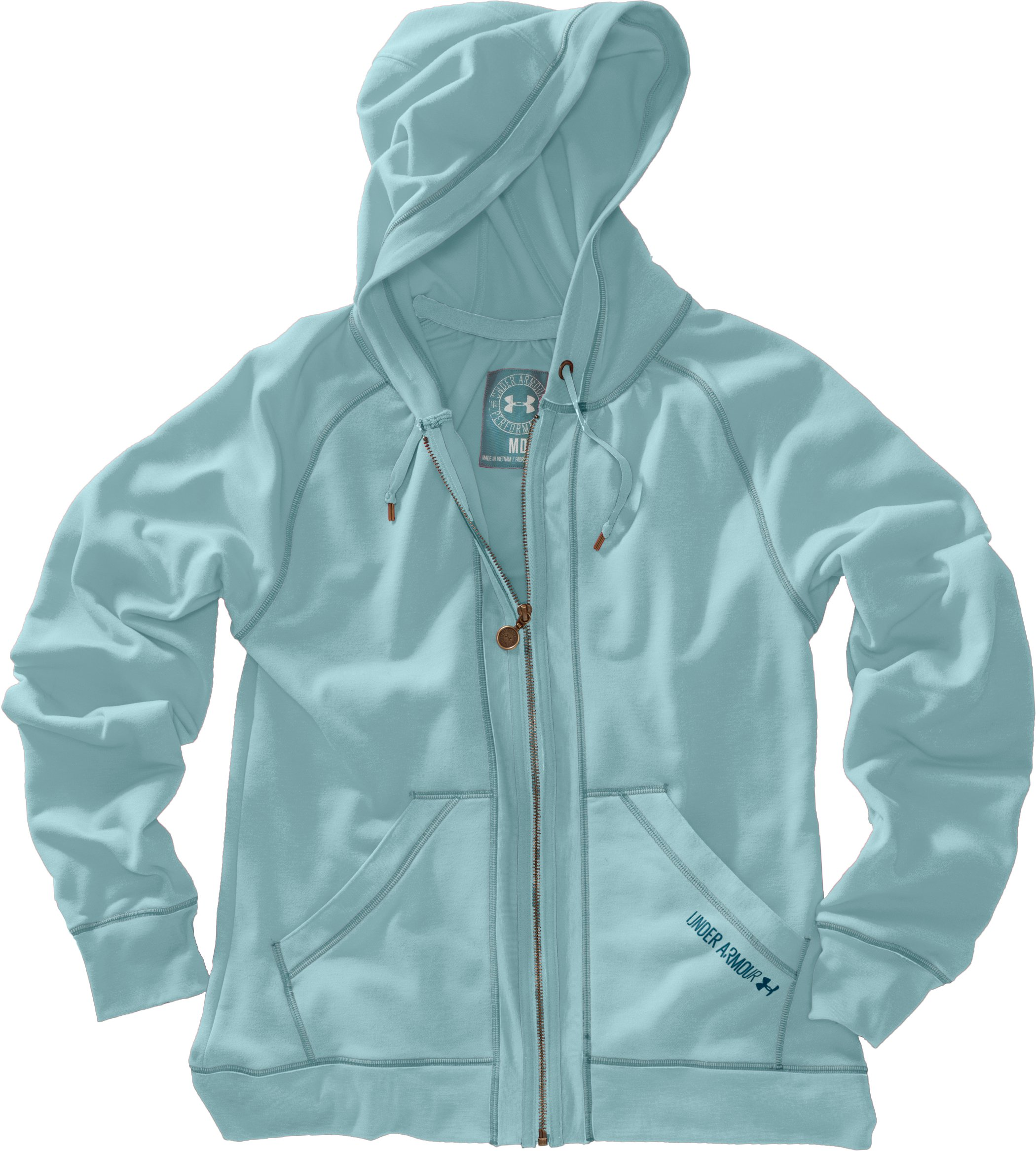 Women's Terry Hoodie, Seaport, Laydown