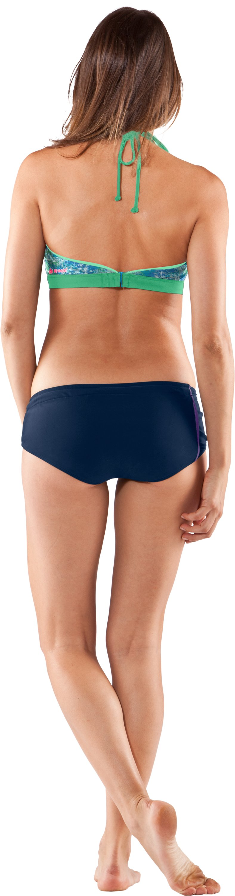 Women's UA Euro Boyshorts, Academy, Back