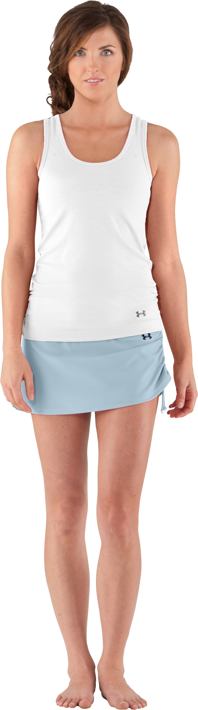 Women's UA Coco Butter Skirtini, STREAM, Front