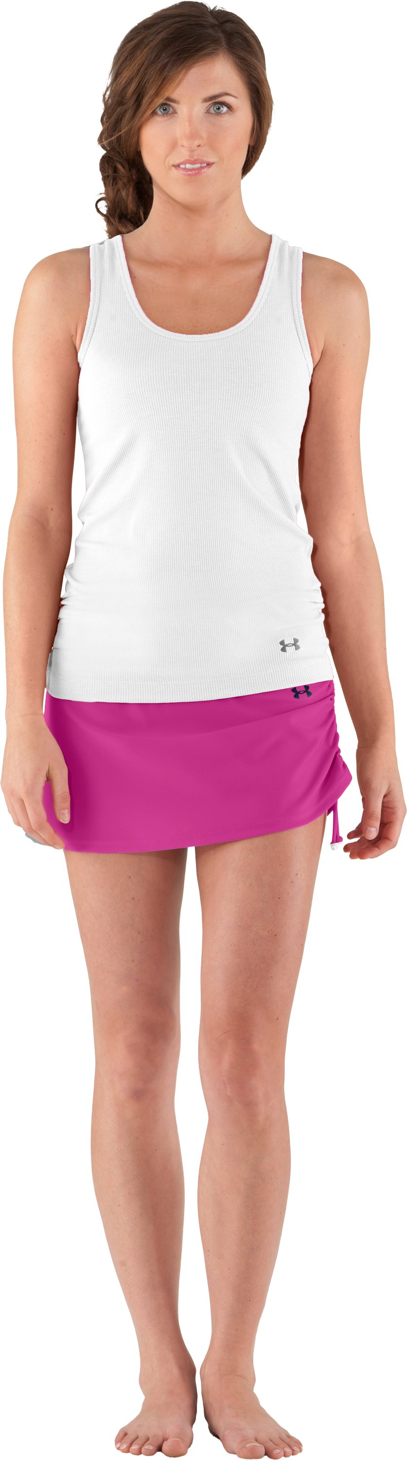 Women's UA Coco Butter Skirtini, Pink Essence, Front