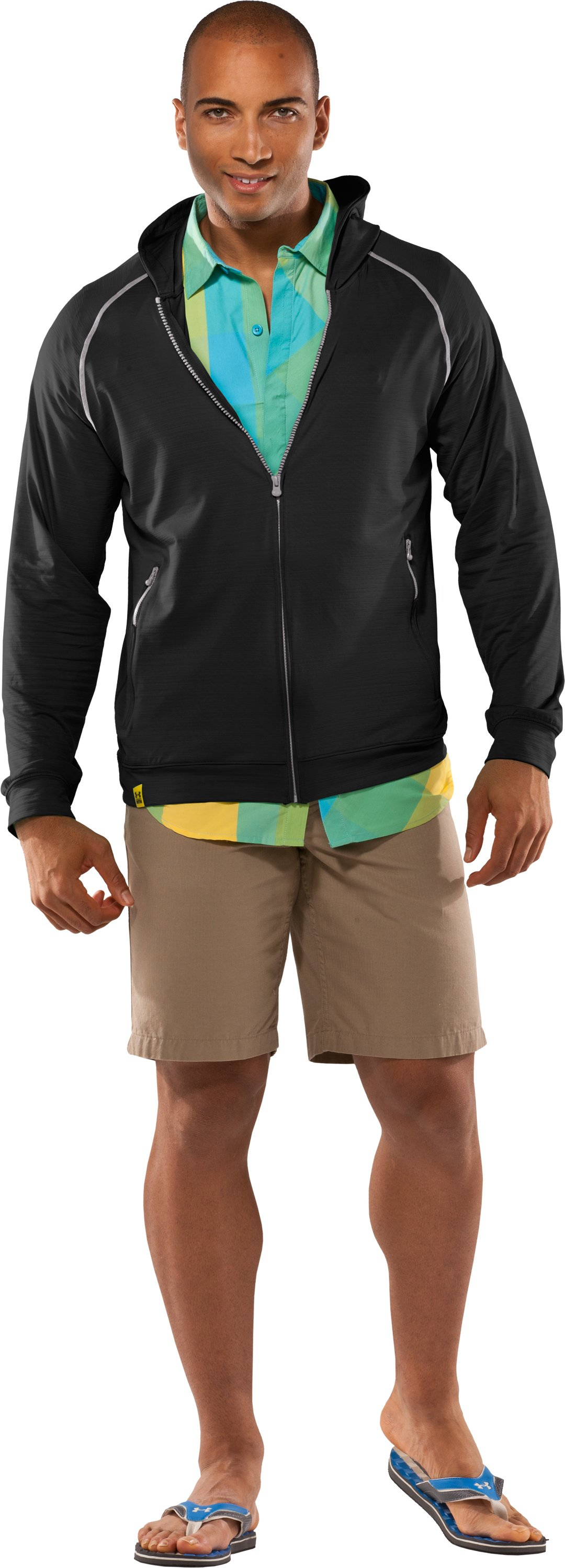 Men's UA Tour Full Zip Hoodie, Black , zoomed image