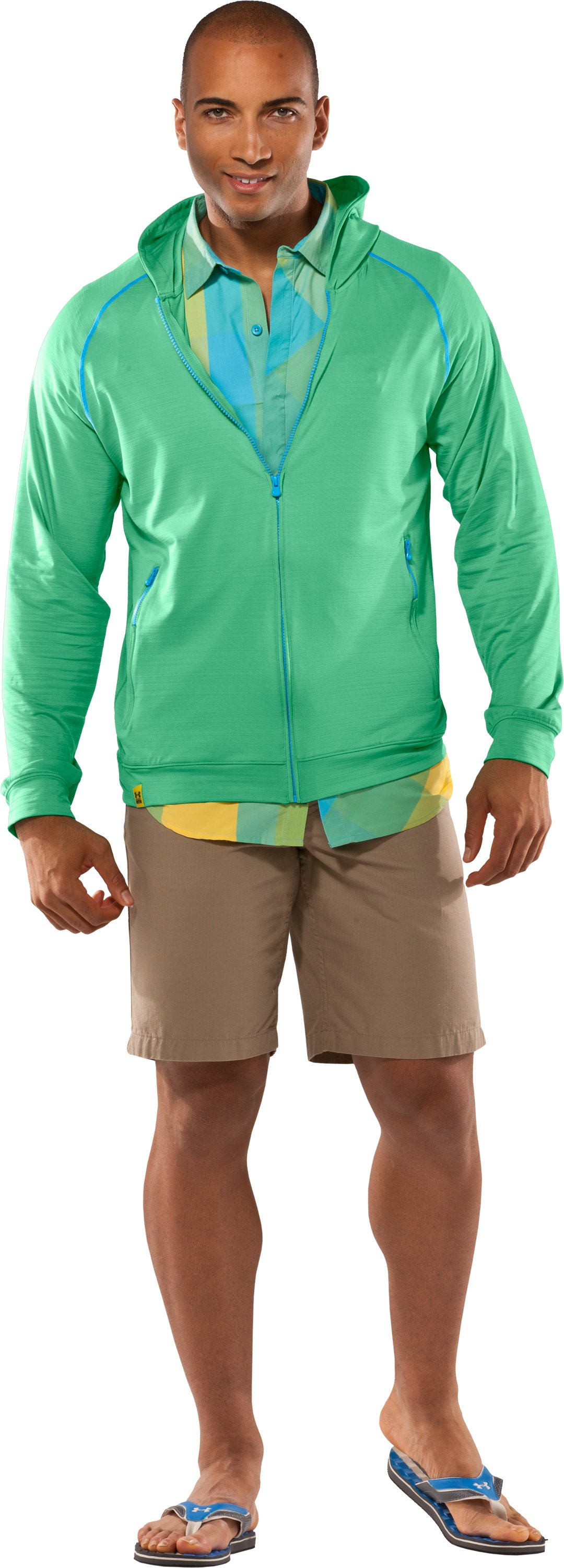 Men's UA Tour Full Zip Hoodie, Ribbit, Front