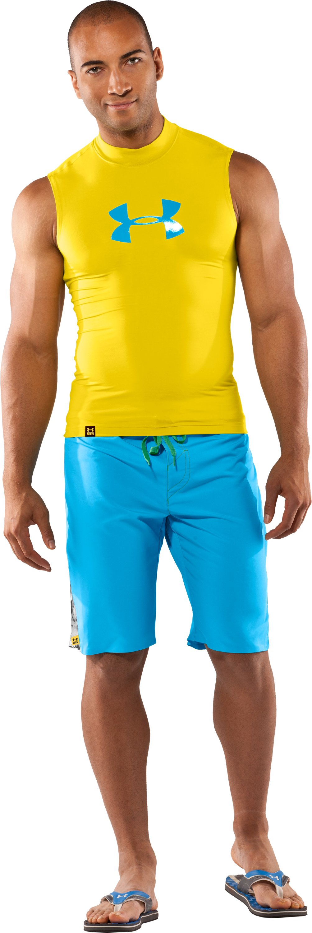 Men's Proaid Sleeveless Rash Guard, Lemonade, Front