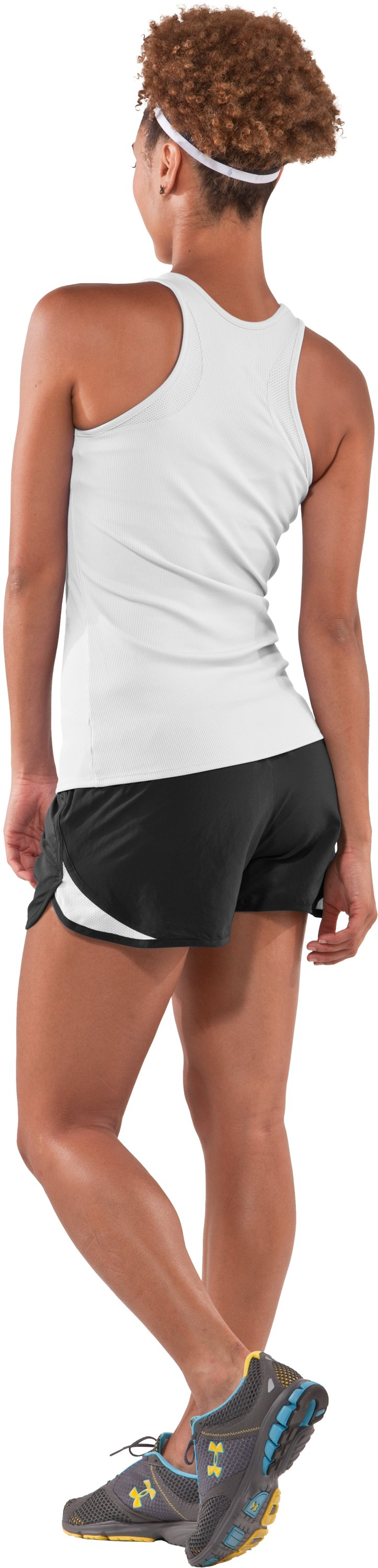 Women's WWP Training Short, Black , Back