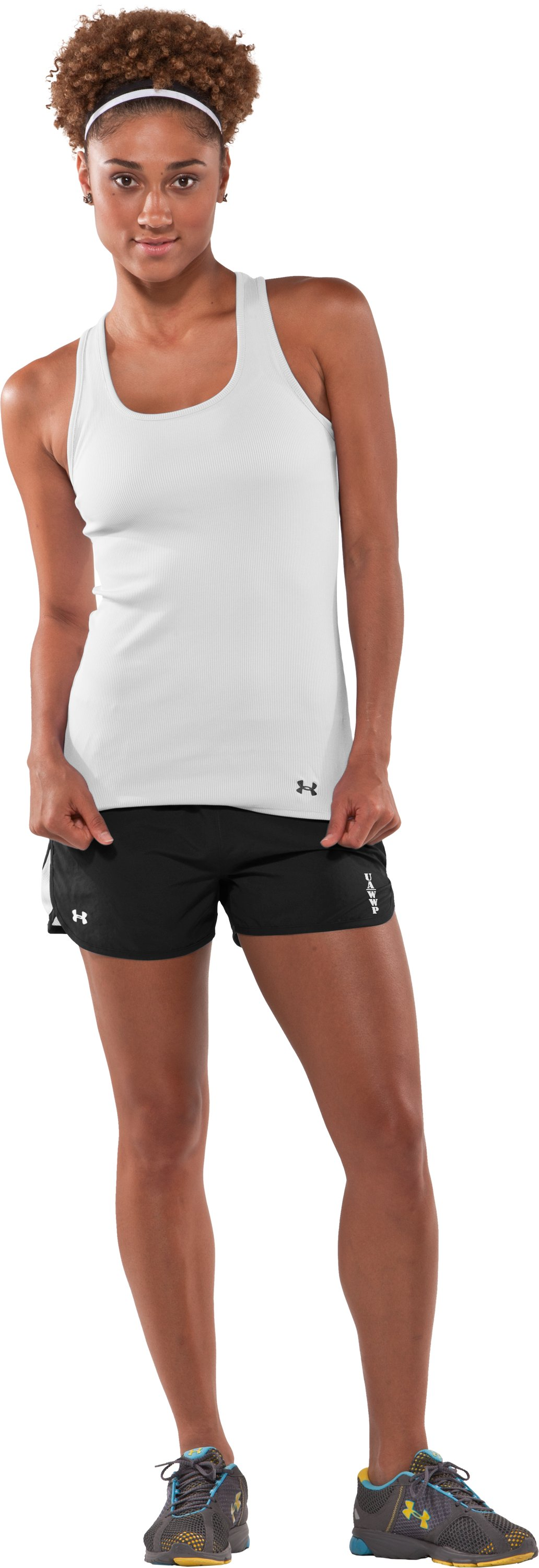 Women's WWP Training Short, Black , Front