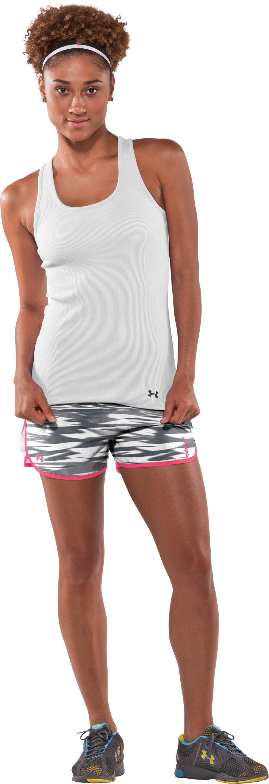 Women's WWP Training Short, Charcoal, Front