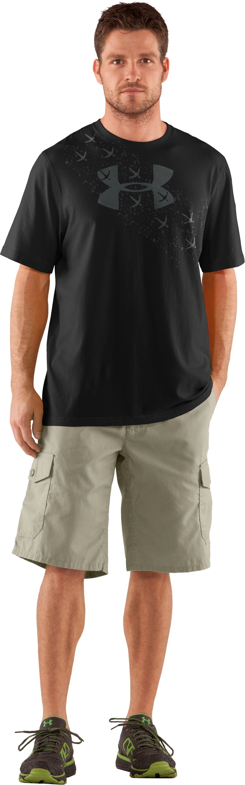 Men's UA Turkey Trax T-Shirt, Black , Front
