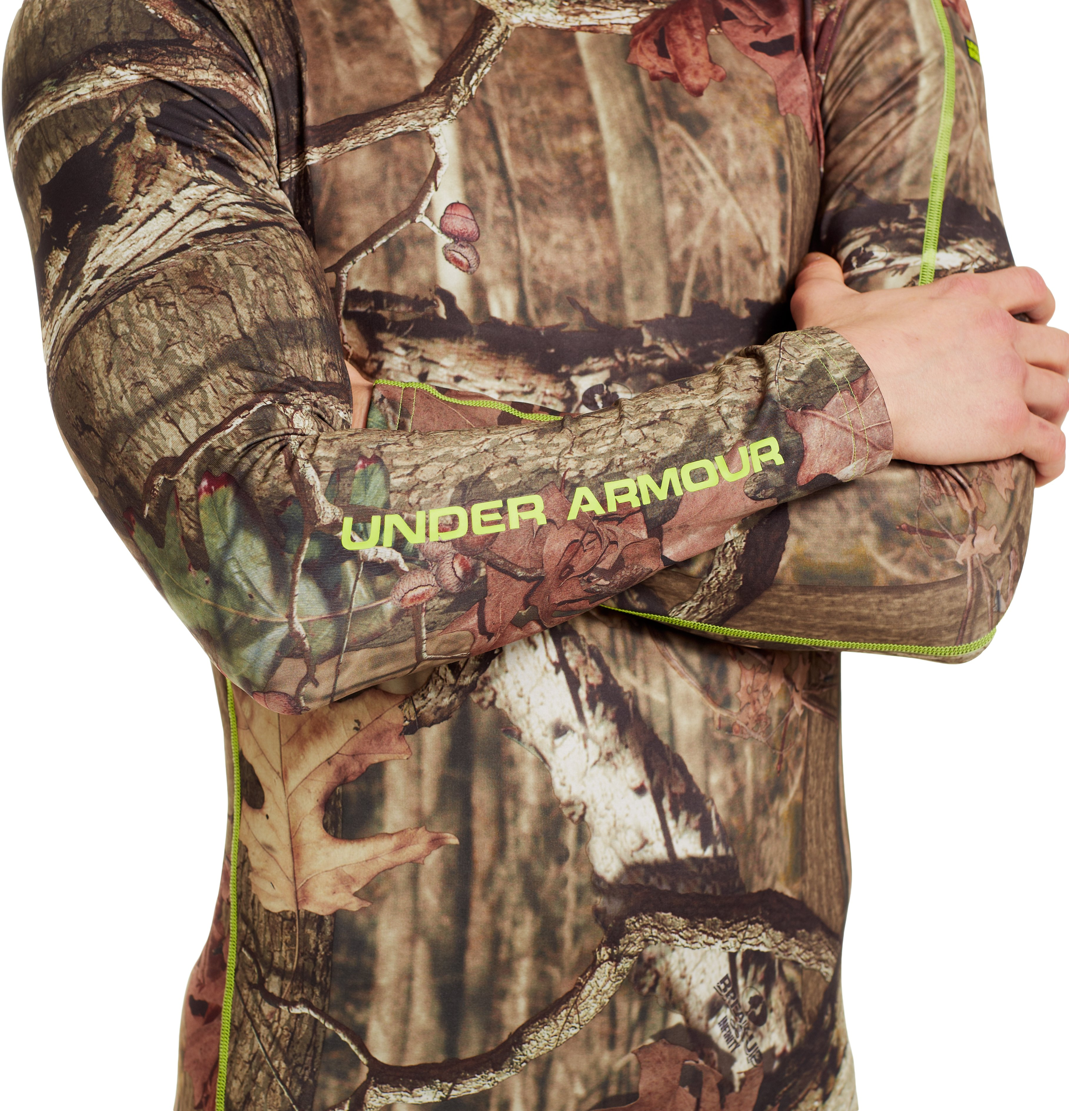 Men's ColdGear® Evo Scent Control Crew, Mossy Oak Break-Up Infinity