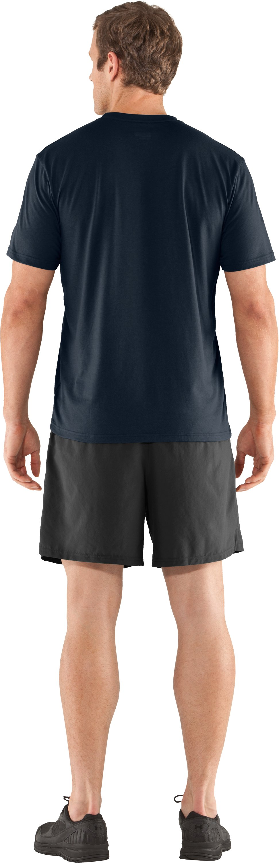 Men's Charged Cotton® Pocket T-Shirt, Cadet, Back