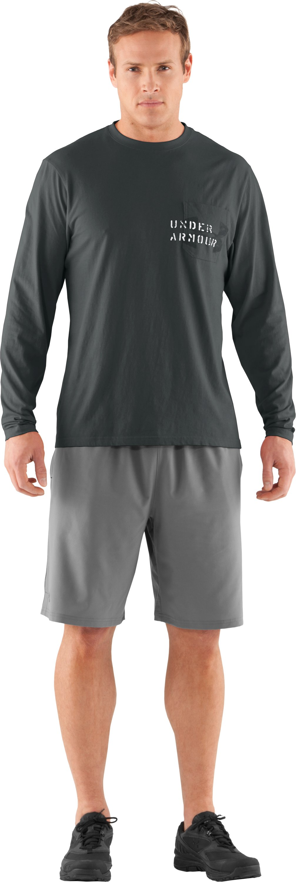 Men's Charged Cotton® Pocket Long Sleeve T-Shirt, Battleship