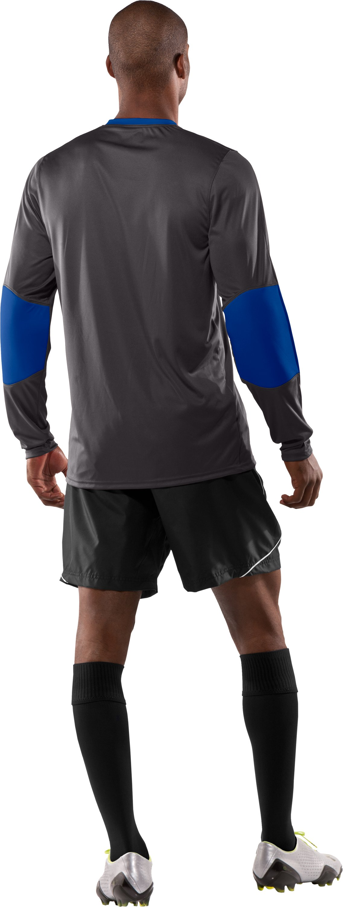 Men's UA Horizontal Goalkeeper Jersey, Charcoal, Back