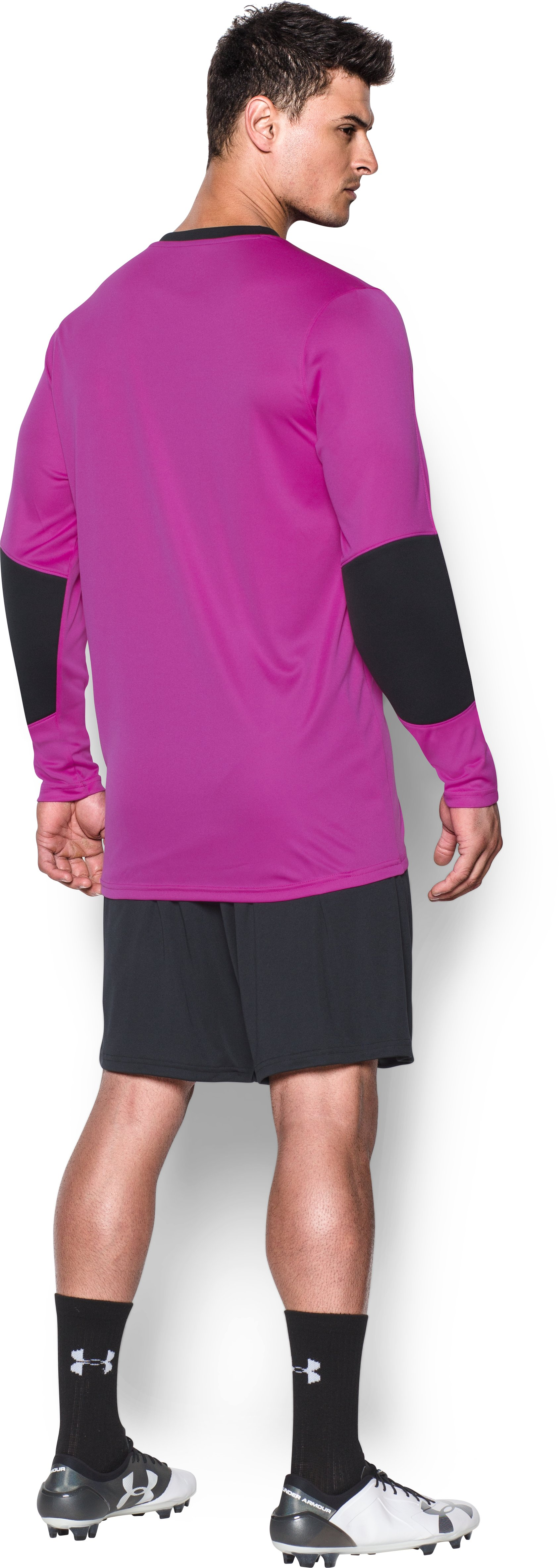 Men's UA Horizontal Goalkeeper Jersey, STROBE, Back