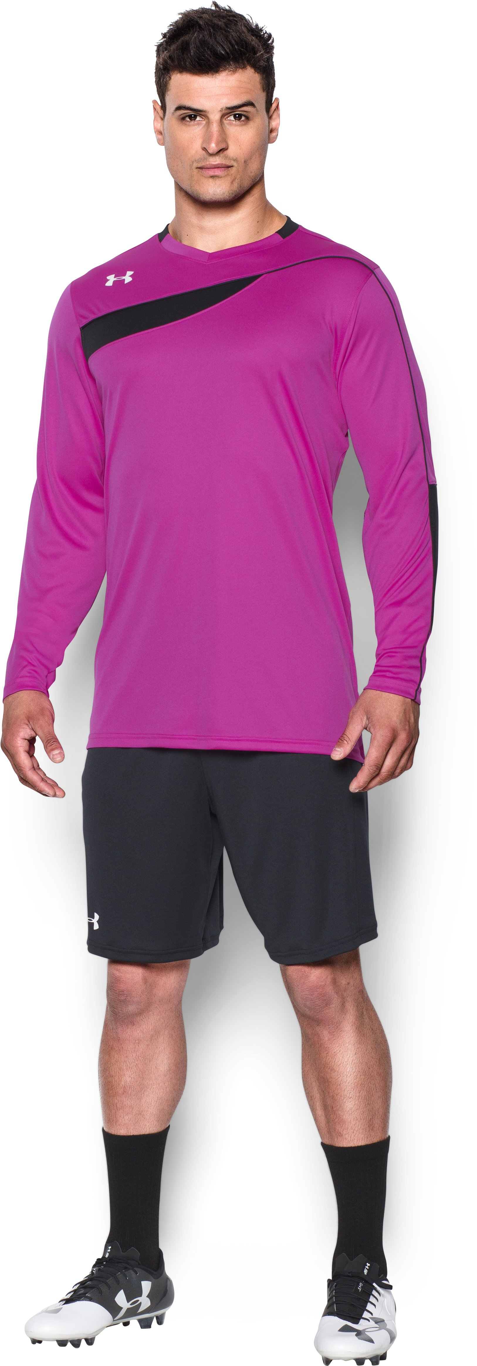 Men's UA Horizontal Goalkeeper Jersey, STROBE, Front