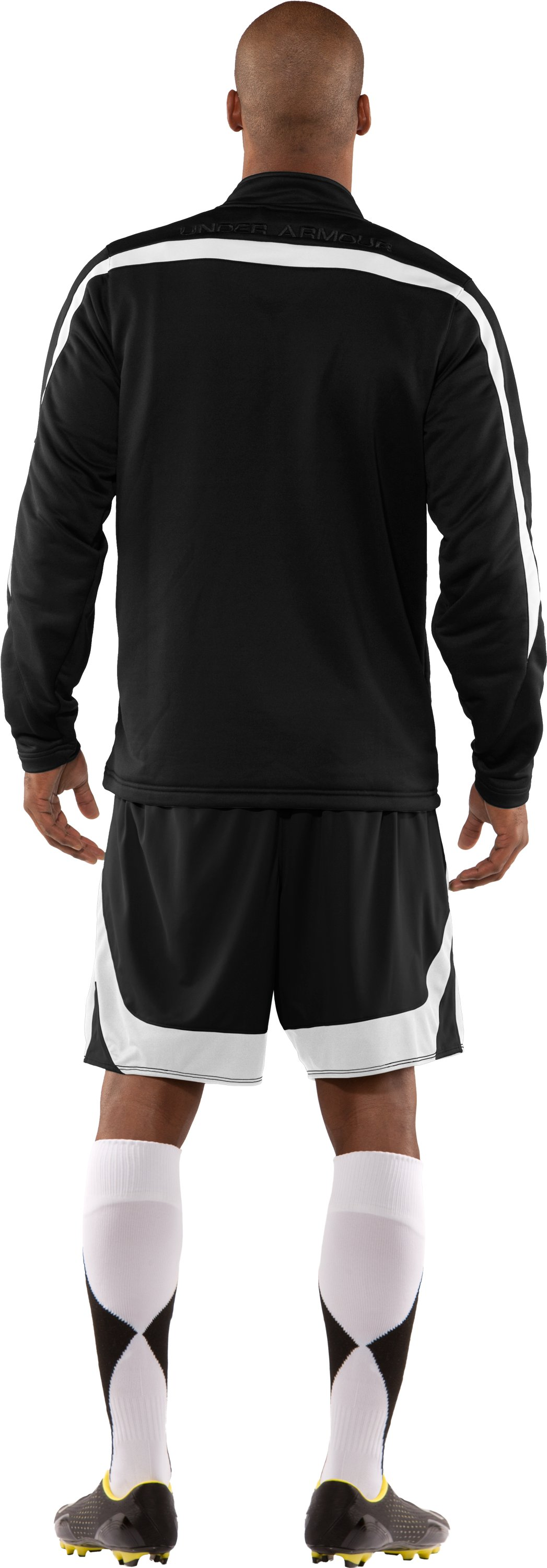 Men's UA Classic Knit Warm-Up Jacket, Black , Back