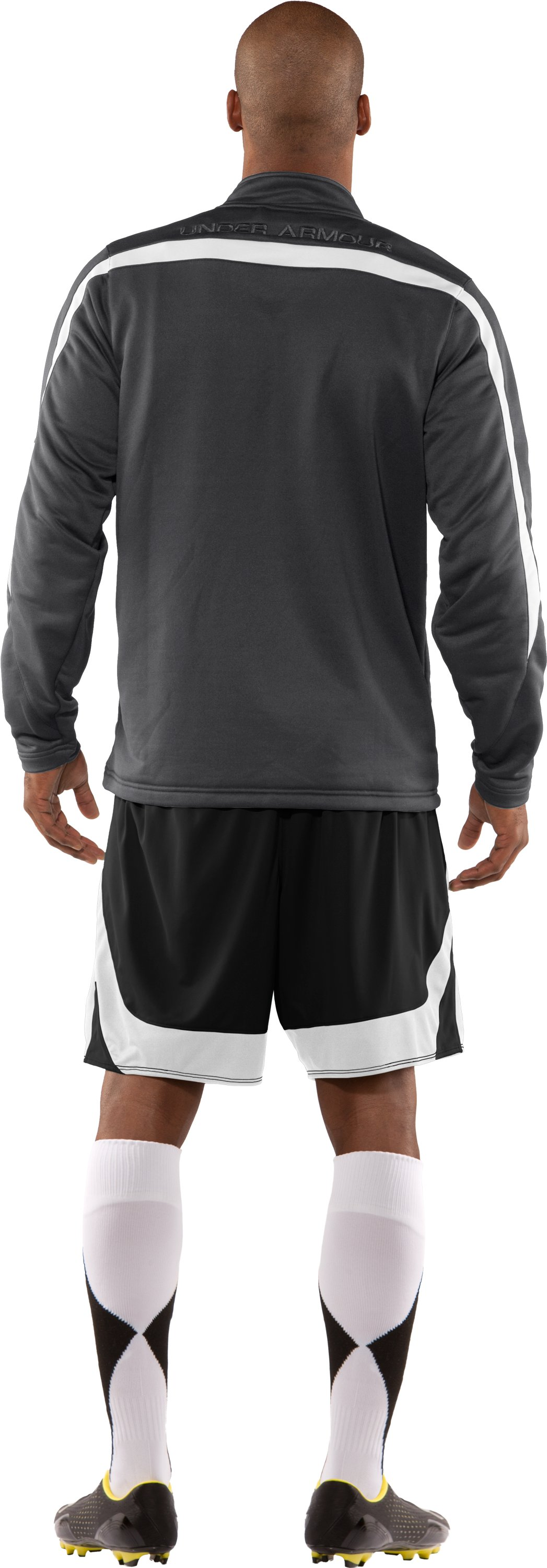 Men's UA Classic Knit Warm-Up Jacket, Graphite, Back
