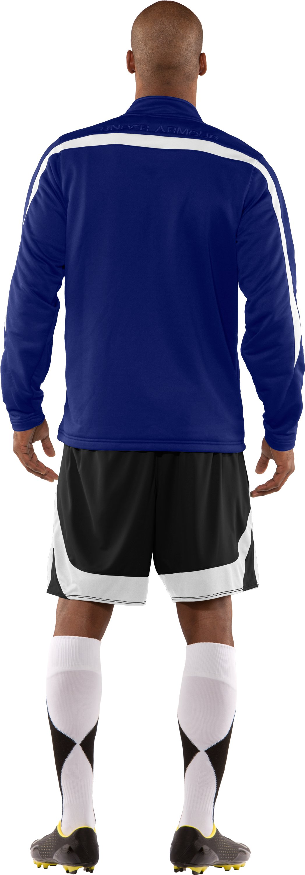 Men's UA Classic Knit Warm-Up Jacket, Royal, Back