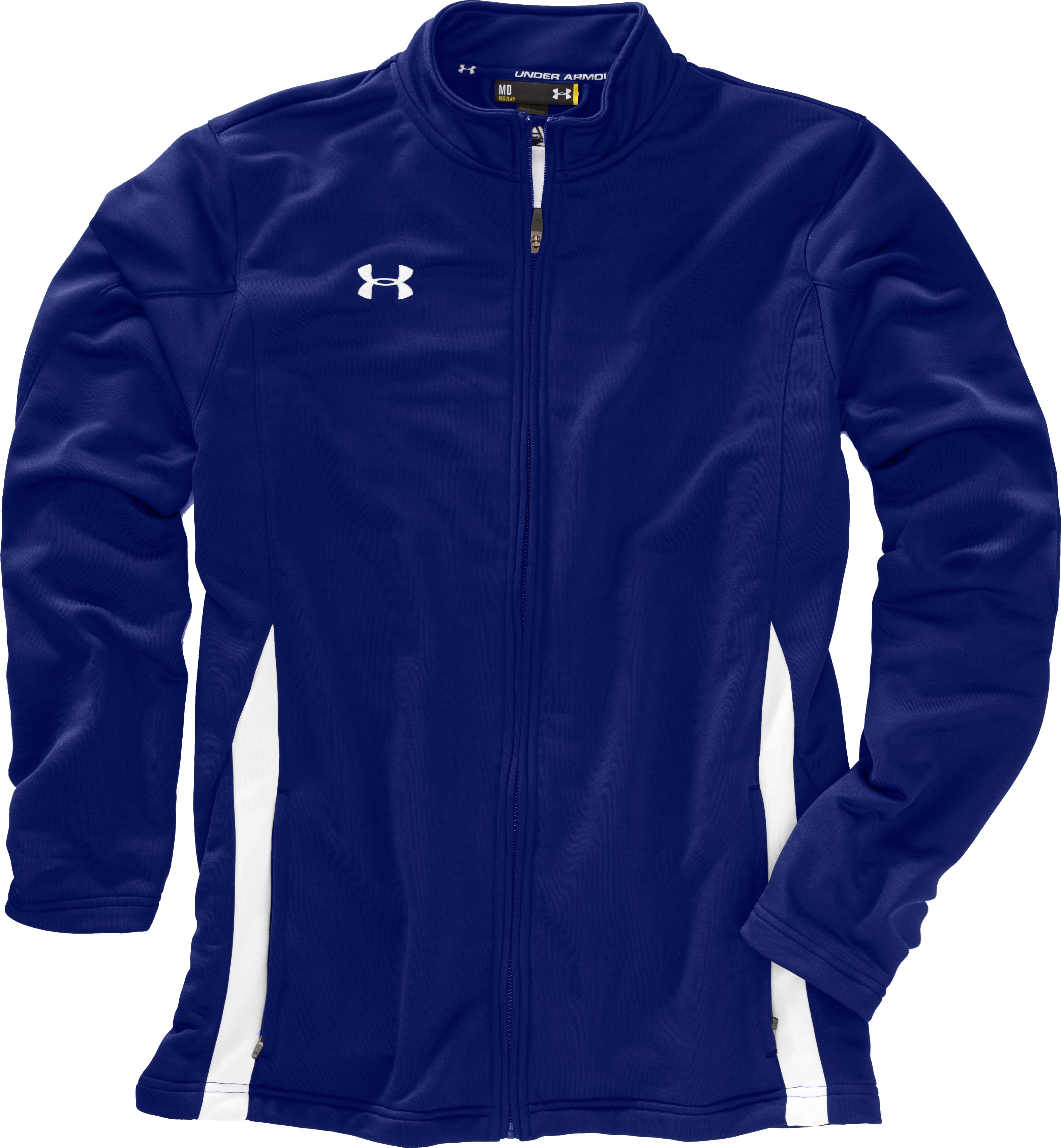 Men's UA Classic Knit Warm-Up Jacket, Royal, Laydown