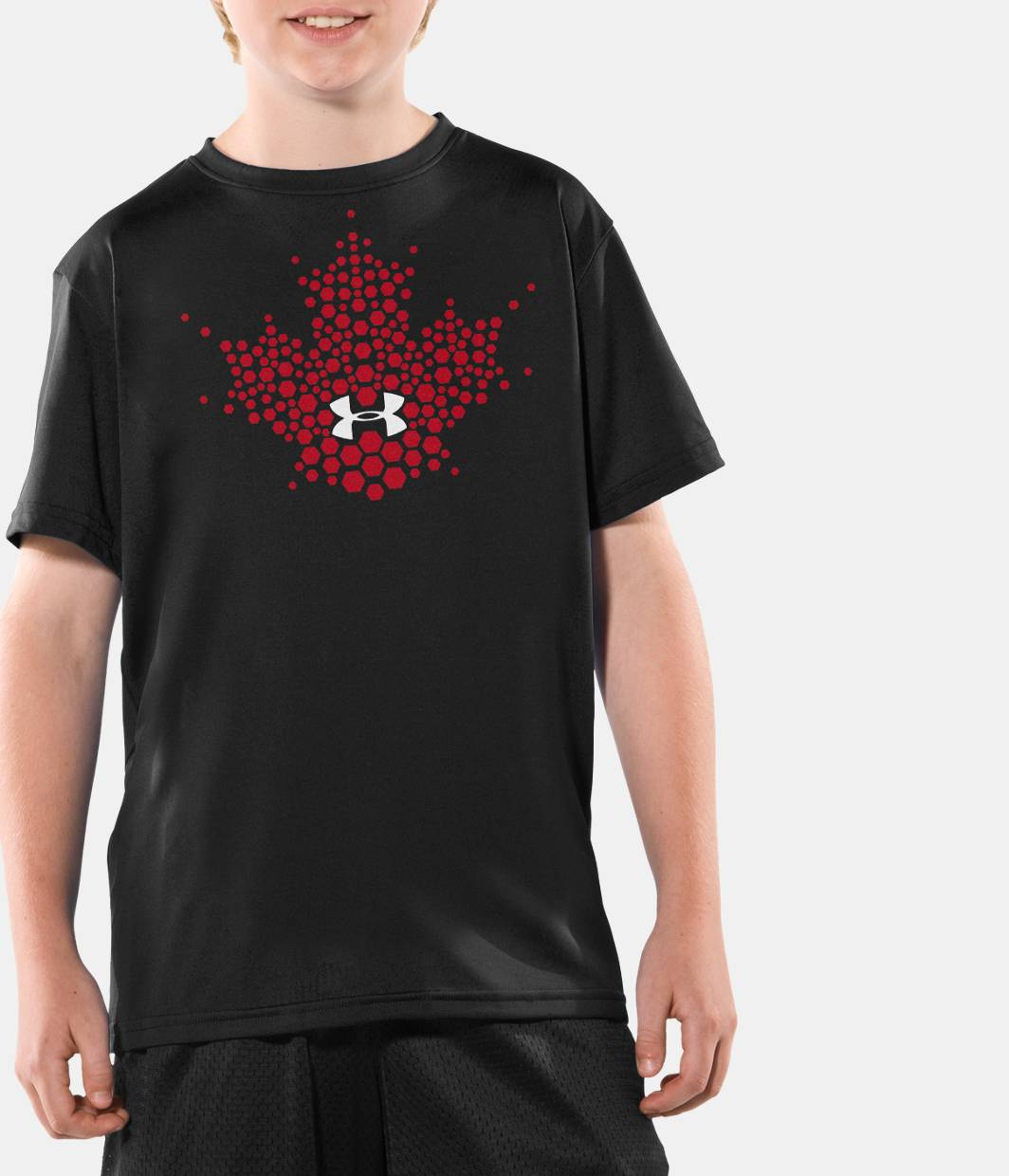 Boys hockey canada graphic t shirt under armour ca for Under armor hockey shirt